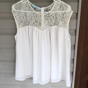 Beautiful flowy top with lace at the top